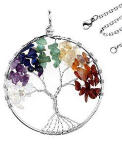 Chakra δέντρο της ζωής 7 κρύσταλοι