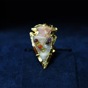 Δαχτυλίδι chakra από αχάτη