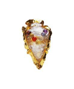 Δαχτυλίδι chakra από λευκό χαλαζία