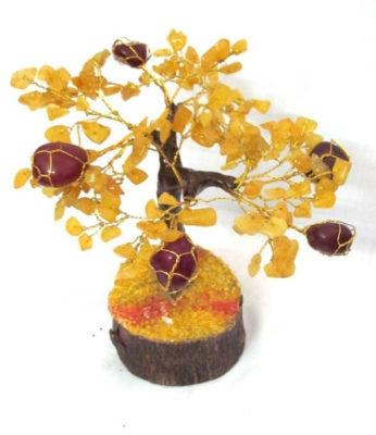 Δέντρο ζωής από κιτρίνη και κρύσταλλο ίασπη