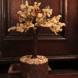 Δέντρο ζωής κιτρίνη και κρύσταλλο ίασπη