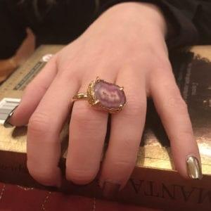 Δαχτυλίδι κόκκινου αχάτη
