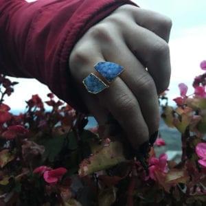 δαχτυλίδι ακουαμαρίνα