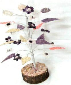 δέντρο αμέθυστου, λευκού και ροζ χαλαζία