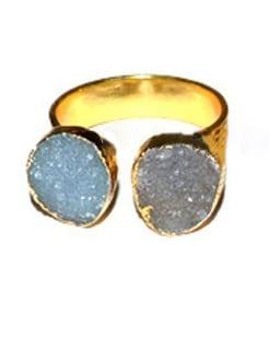 δαχτυλίδι αγγελίτη και ακουαμαρίνα