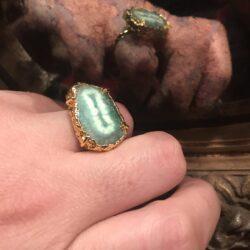 Δαχτυλίδι πράσινου ιαδεΐτη