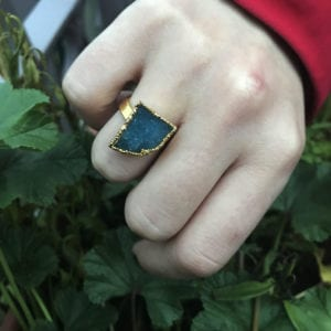 δαχτυλίδι green aventurine