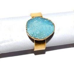 δαχτυλίδι στρογγυλό aquamarine