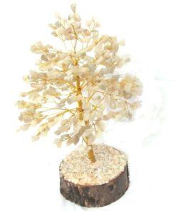 δέντρο από 300 πέτρες λευκού χαλαζία