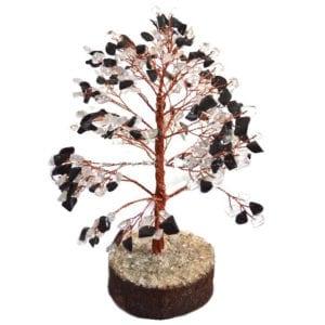 δέντρο λευκού χαλαζία και μαύρης τουρμαλίνης