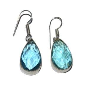 σκουλαρίκια ακουαμαρίνα-chakra.gr