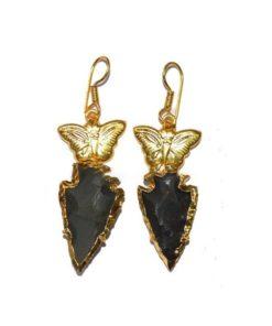 σκουλαρίκια μαύρου όνυχα