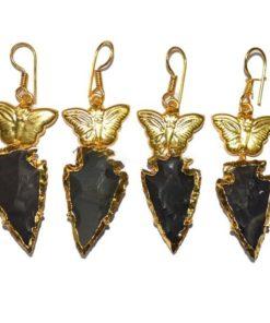σκουλαρίκια μαύρου όνυχα-chakra.gr