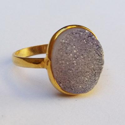 Δαχτυλίδι drusy αγγελίτη