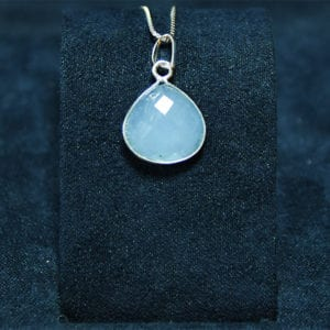 Μενταγιόν aquamarine