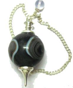 Black onyx σφαιρικό εκκρεμές μαύρου όνυχα