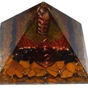 Πυραμίδα οργόνης κιτρίνη με μαύρη τουρμαλίνη