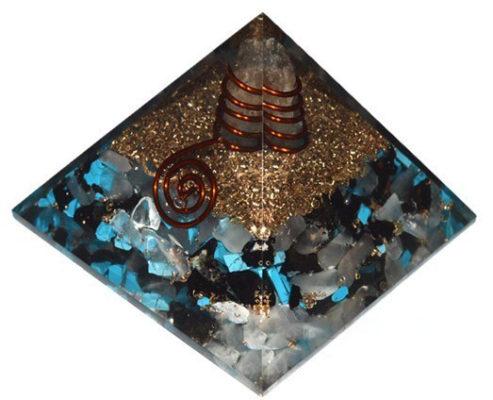 Πυραμίδα οργόνης χαολίτη και μαύρου όνυχα