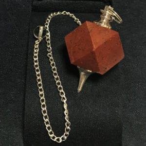 Red jasper εκκρεμές πολύγωνο από κόκκινο ίασπη