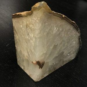 φέτα λευκού κρυσταλλικού Χαλαζία