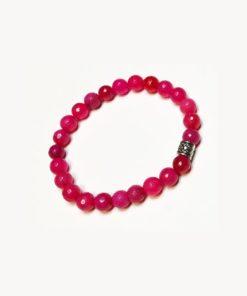 Βραχιόλι ροζ νεφρίτη
