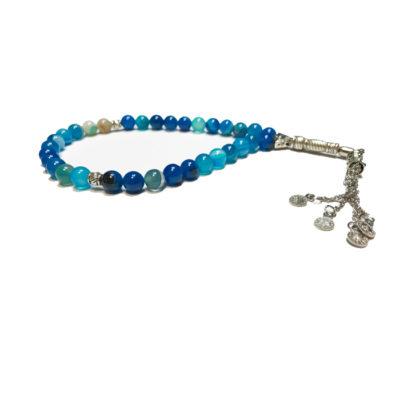 Japa Mala καρπού μπλε αχάτη